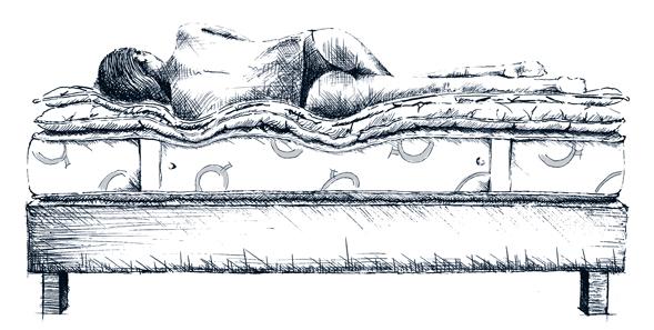 Sistema letto extra lusso Quacquarini